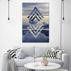 The Clouds Above Multi Panel Canvas Wall Art - Sky