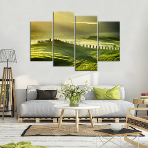 The Field Multi Panel Canvas Wall Art - Nature