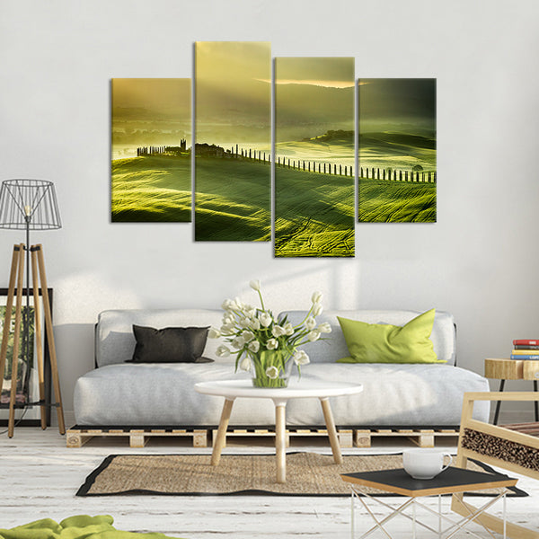 The Field Multi Panel Canvas Wall Art