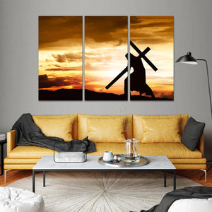 The First Cross Multi Panel Canvas Wall Art - Religion