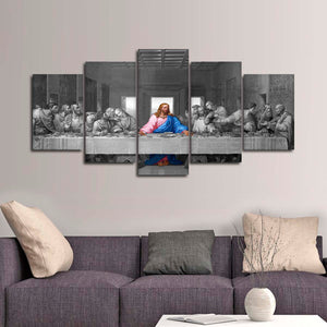 The Last Supper Pop Multi Panel Canvas Wall Art - Religion