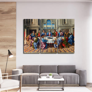 The Last Supper of Christ Multi Panel Canvas Wall Art - Religion