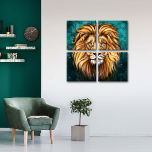 The Lion King Multi Panel Canvas Wall Art - Lion