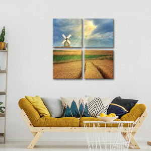 The Magic Windmill Multi Panel Canvas Wall Art - Windmill