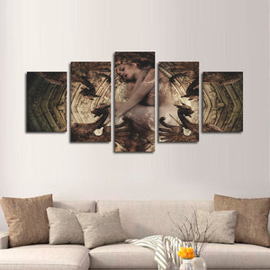 The Naked Witch Multi Panel Canvas Wall Art - Gothic