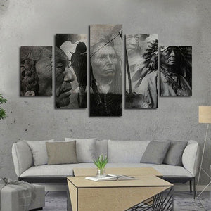 The Native Legacy Multi Panel Canvas Wall Art - Native_american