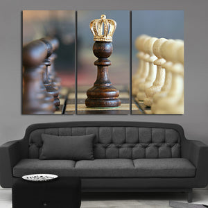 The Queen Multi Panel Canvas Wall Art - Chess