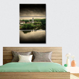 The Silence of The Village Multi Panel Canvas Wall Art - Village