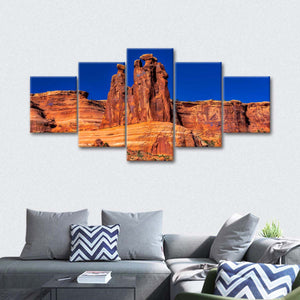 The Three Gossips Plateau Multi Panel Canvas Wall Art - Nature