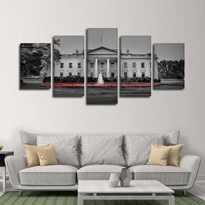 The White House Pop Multi Panel Canvas Wall Art - America