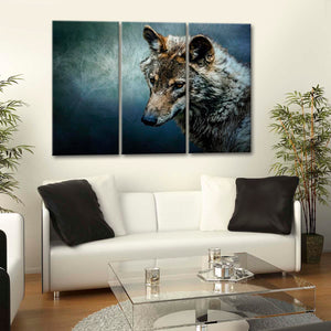 The Wolf Multi Panel Canvas Wall Art - Wolf