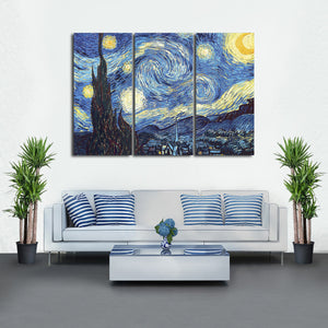 The Starry Night Multi Panel Canvas Wall Art - Classic_art