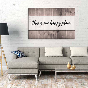 This Is Our Happy Place Canvas Wall Art - Relationship