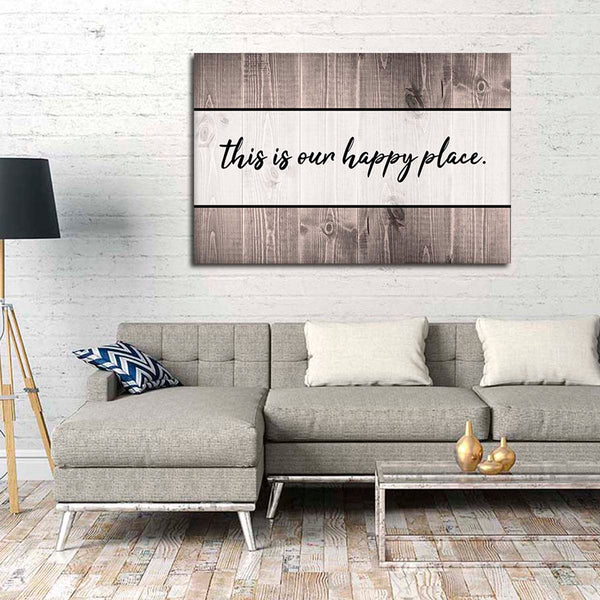 This Is Our Happy Place Canvas Wall Art