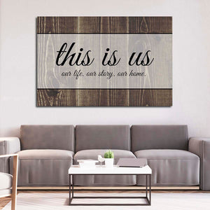 This Is Us Canvas Wall Art - Inspiration