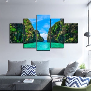 Thailand Islands Multi Panel Canvas Wall Art - Beach