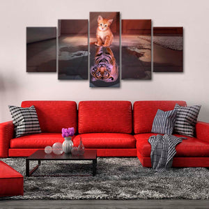 Tiger Kitten Multi Panel Canvas Wall Art - Tiger
