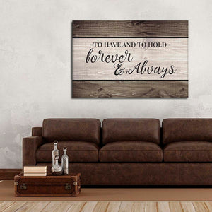 To Have And To Hold Canvas Wall Art - Relationship