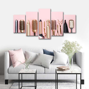 Tools To Gorgeousness Multi Panel Canvas Wall Art - Hair