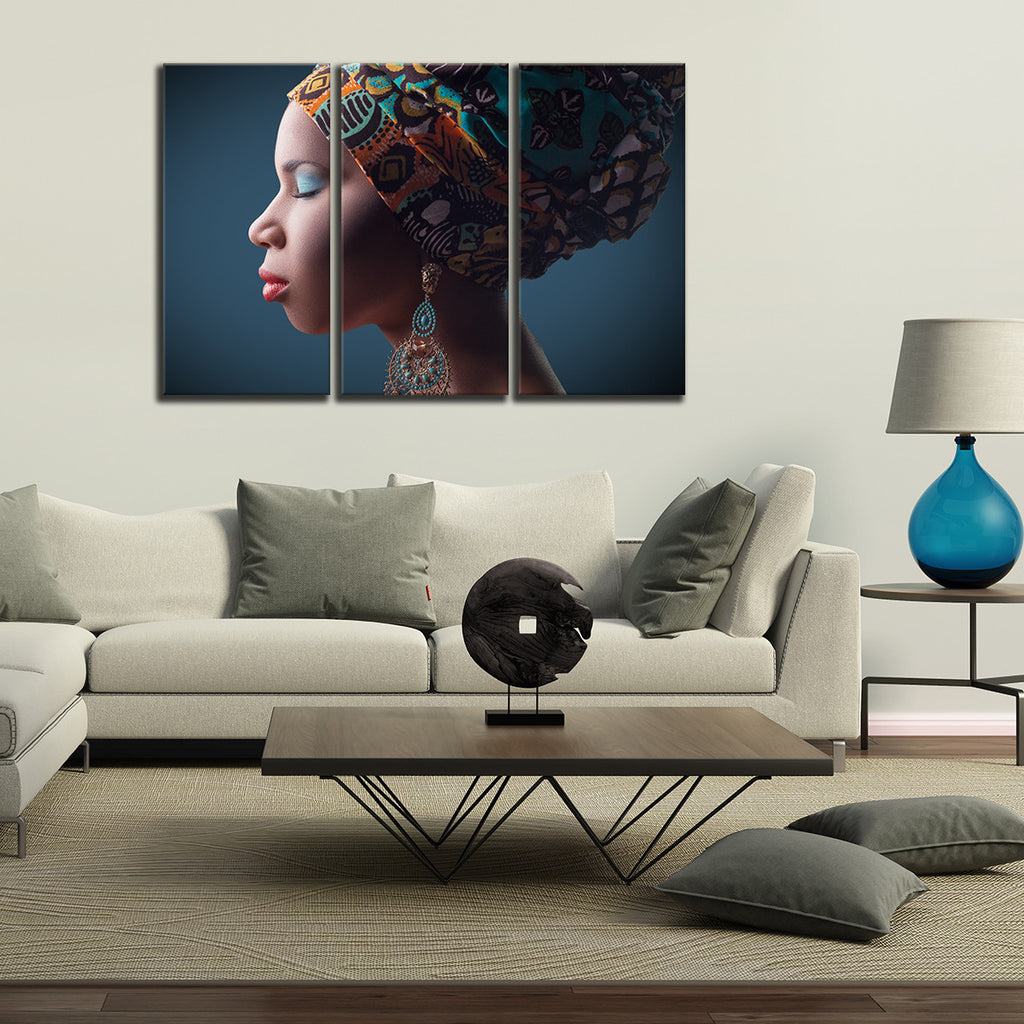 SET OF THREE AFRICAN THEME CANVAS PRINT PICTURES WALL ART MANY SIZES FREE UK P/&P