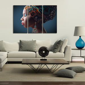 Traditional African Multi Panel Canvas Wall Art - Africa