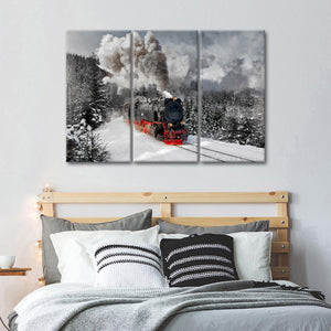 Train Express Multi Panel Canvas Wall Art - Train