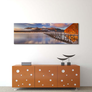 Tranquil Japanese Lake Multi Panel Canvas Wall Art - Nature