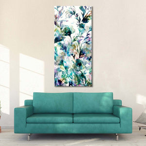 Transparent Garden II Panel I Multi Panel Canvas Wall Art - Flower