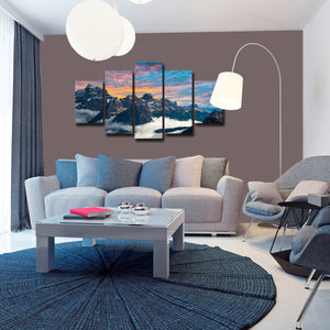 Tre Cime Di Lavaredo Multi Panel Canvas Wall Art - Nature
