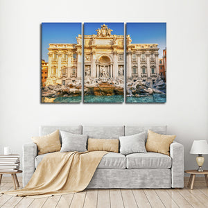 Trevi Fountain Multi Panel Canvas Wall Art - Landmarks