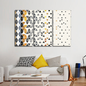 Triangle Madness Multi Panel Canvas Wall Art - Geometric