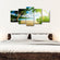 Tropical Beach Multi Panel Canvas Wall Art
