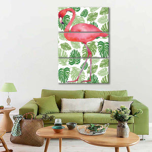 Tropical Flamingo II Multi Panel Canvas Wall Art - Indie