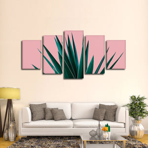 Tropical Greens Multi Panel Canvas Wall Art - Botanical