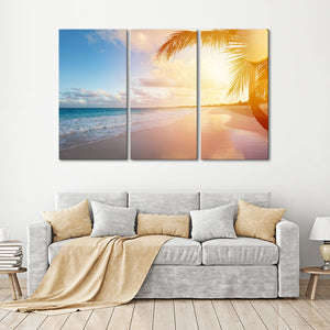Tropical Haven Multi Panel Canvas Wall Art - Beach