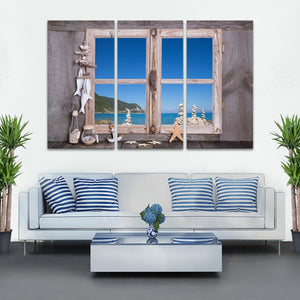 Tropical Home Multi Panel Canvas Wall Art - Beach