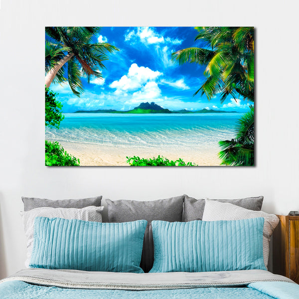 Tropical Island Multi Panel Canvas Wall Art