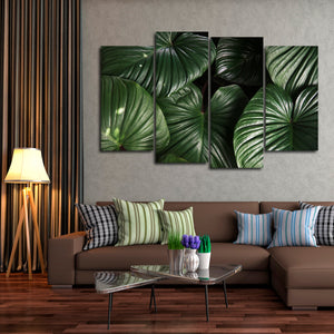 Tropical Leaves Multi Panel Canvas Wall Art - Botanical