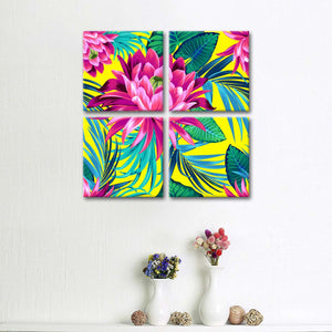 Tropical Waterlily Multi Panel Canvas Wall Art - Flower