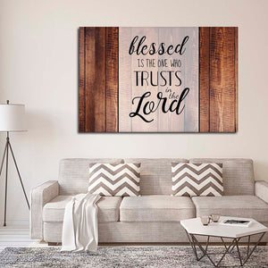 Trust In The Lord Canvas Wall Art - Religion