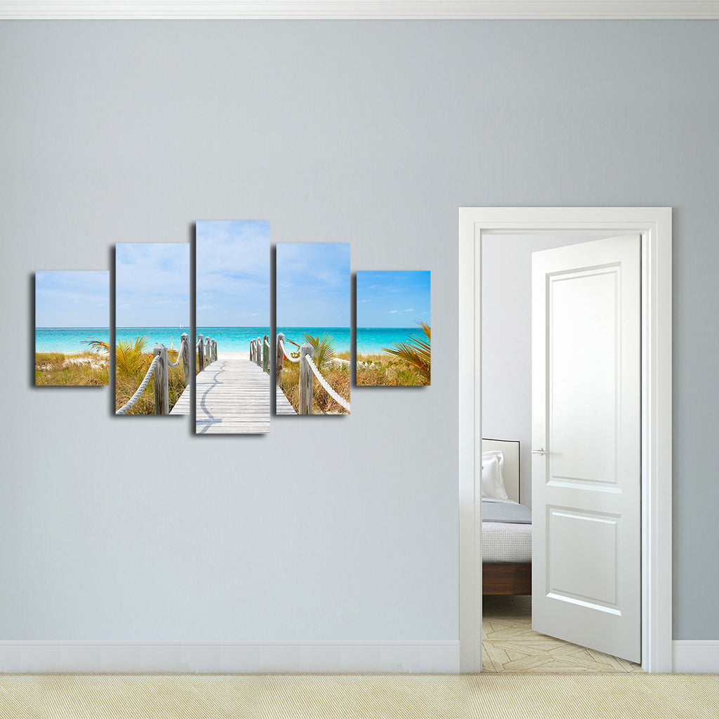 turks and caicos multi panel canvas wall art elephantstock. Black Bedroom Furniture Sets. Home Design Ideas