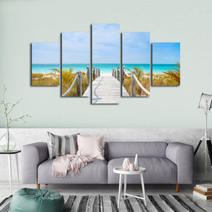 Turks and Caicos Multi Panel Canvas Wall Art - Beach