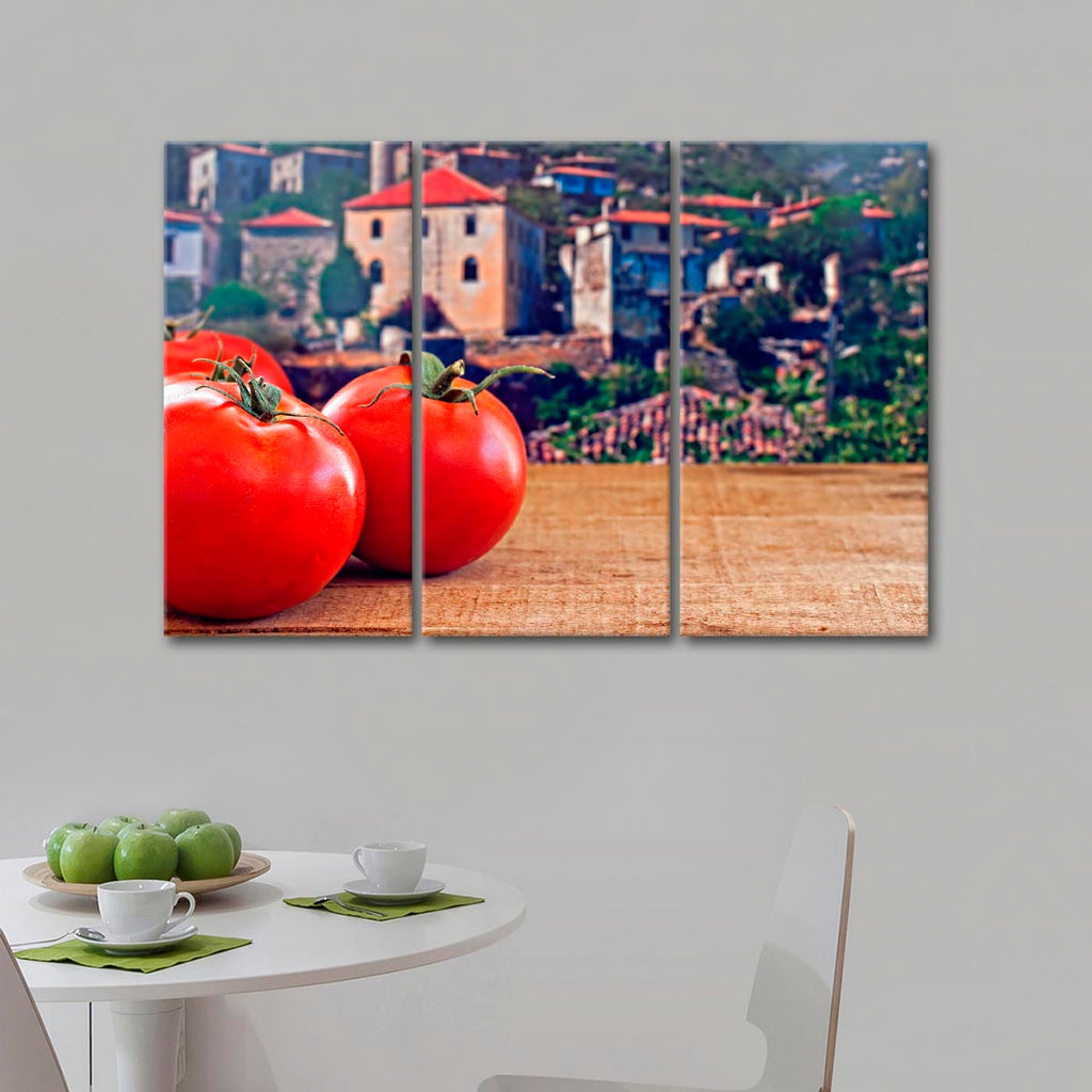 Tuscan Tomatoes Multi Panel Canvas Wall Art