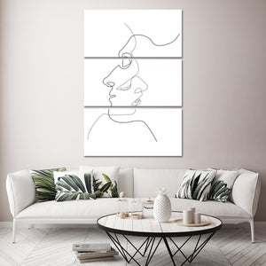 Two Faces Multi Panel Canvas Wall Art - Relationship