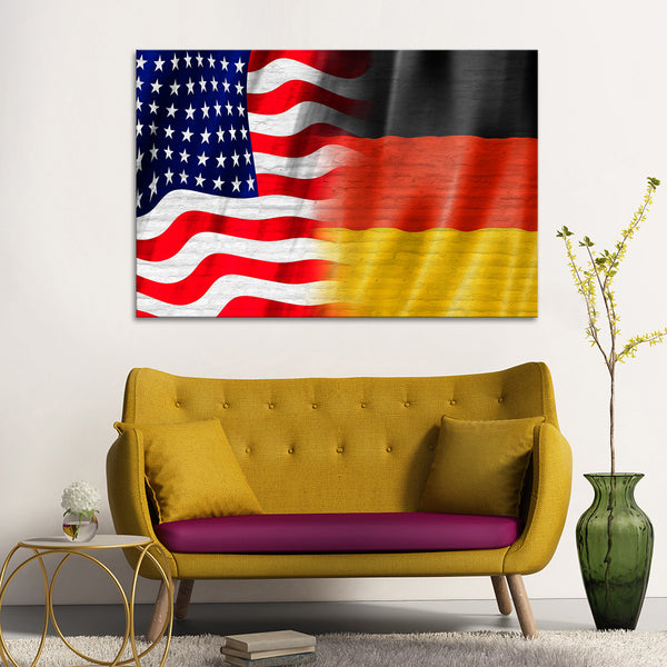 USA and Germany Flag Multi Panel Canvas Wall Art | ElephantStock