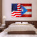 USA and Puerto Rico Flag Multi Panel Canvas Wall Art