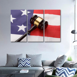 USA Justice Multi Panel Canvas Wall Art - Law