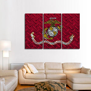 USA Marine Corps Multi Panel Canvas Wall Art - Army