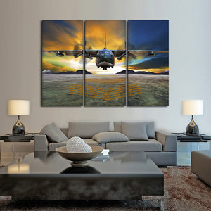 U.S. Air Force Multi Panel Canvas Wall Art - Airplane