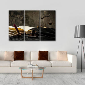 Unbiased Justice Multi Panel Canvas Wall Art - Law